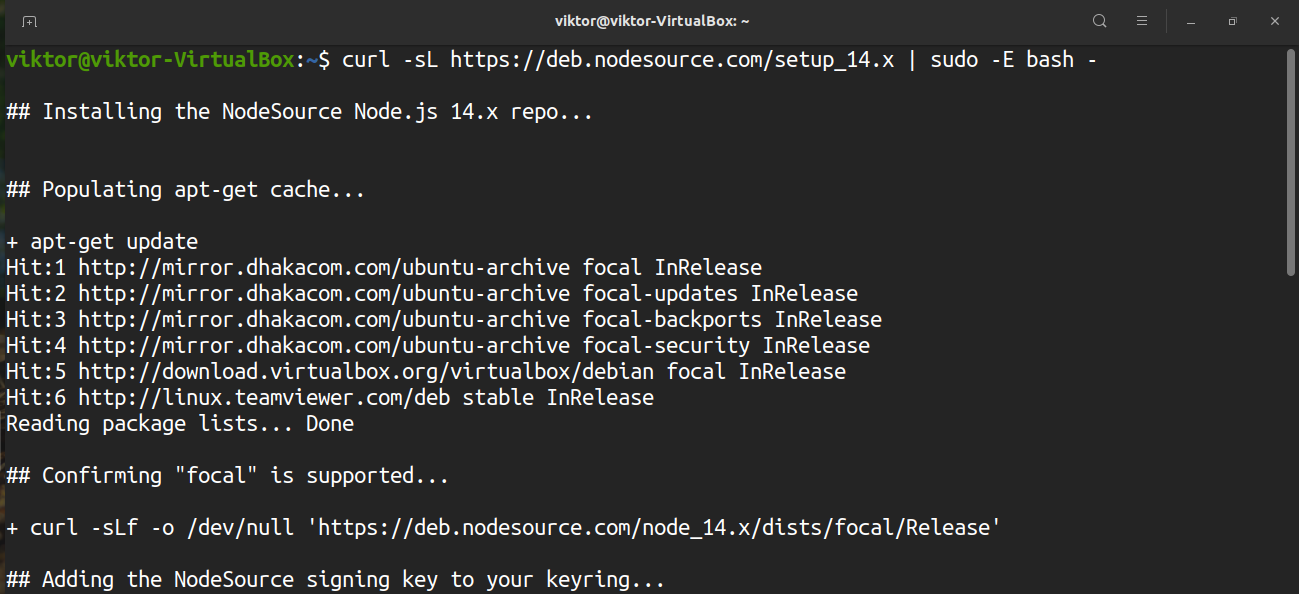 Install and Use Node.js on Ubuntu 20.04 javascript nodejs ubuntu