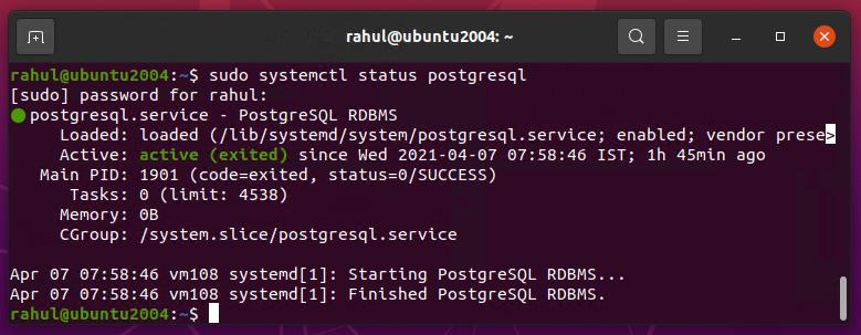 How to Install PostgreSQL in Ubuntu 20.04 pgadmin4 postgres PostgreSQL