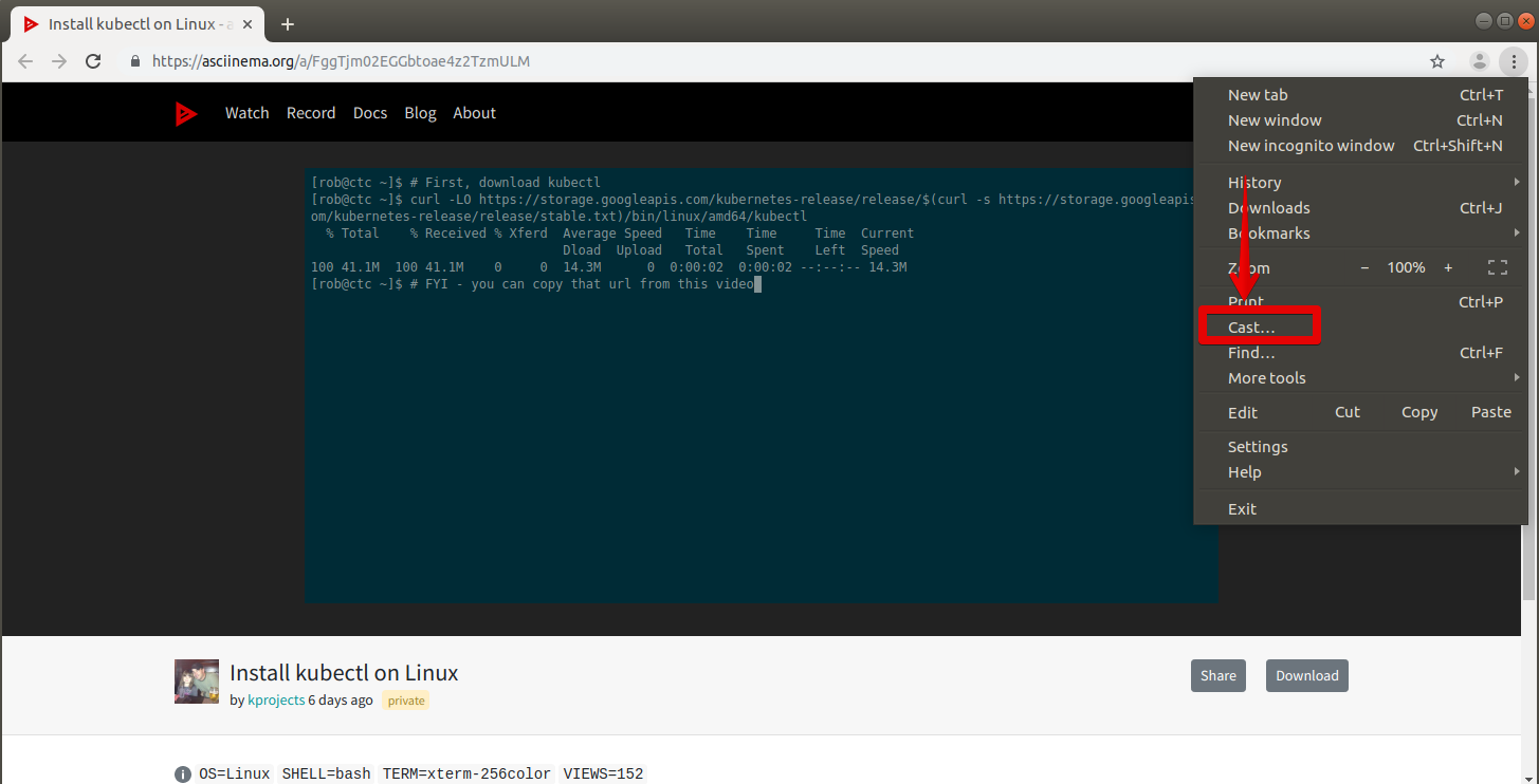 How to Cast Video from Ubuntu to Chromecast Desktop linux shell ubuntu