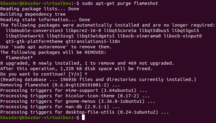 Install Flameshot Screenshot Tool in Ubuntu 20.04 Desktop shell ubuntu