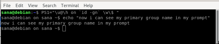 How to customize Bash Terminal prompt on Debian 10 Debian shell