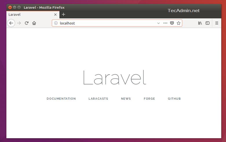 How To Set Up Laravel on Ubuntu 21.04 & 20.10 General Articles Laravel PHP Framework