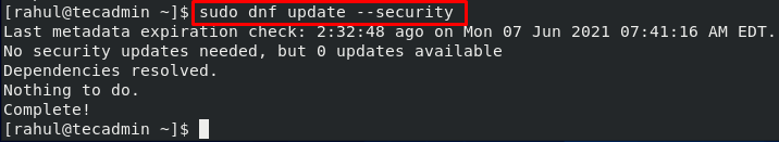 How To Install Security Updates on CentOS 8 (Manual + Automatic) centos CentOS 8 dnf Linux Tutorials