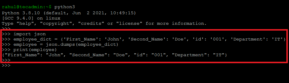 How to Read, Write & Parse JSON in Python JSON Programming Python